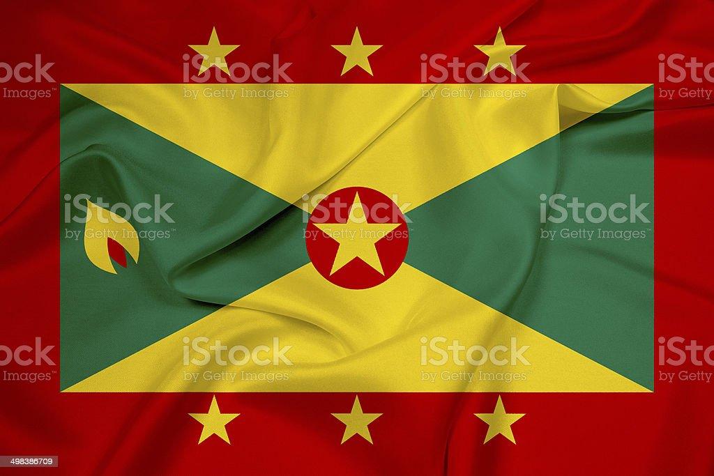 Waving Grenada Flag stock photo