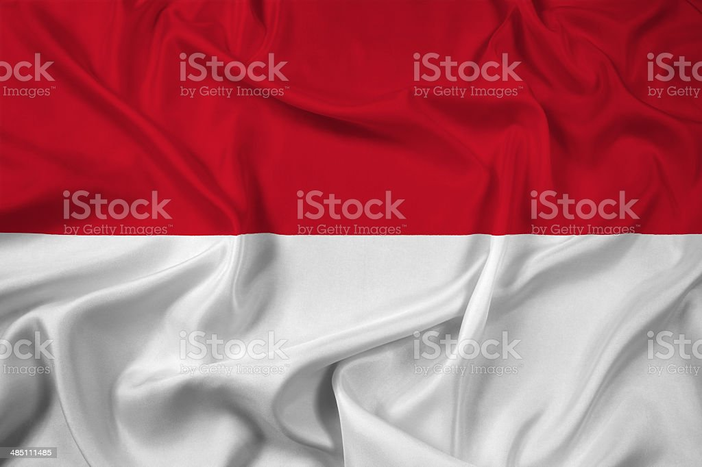 Waving Indonesia Flag stock photo