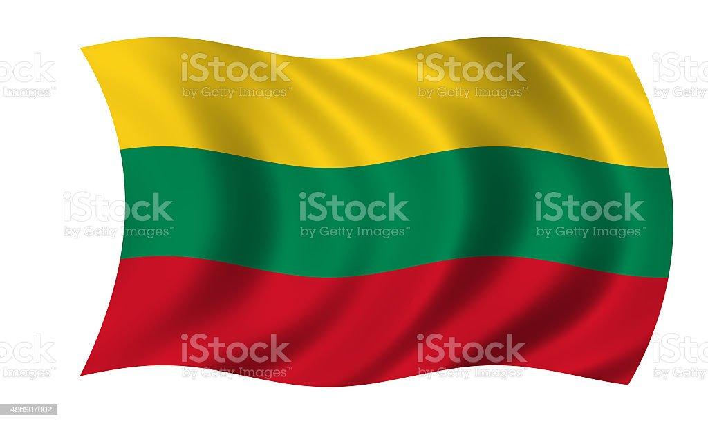 waving lithuanian flag stock photo