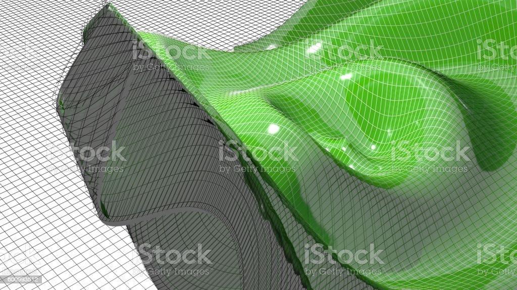 Waving mathematical surface stock photo