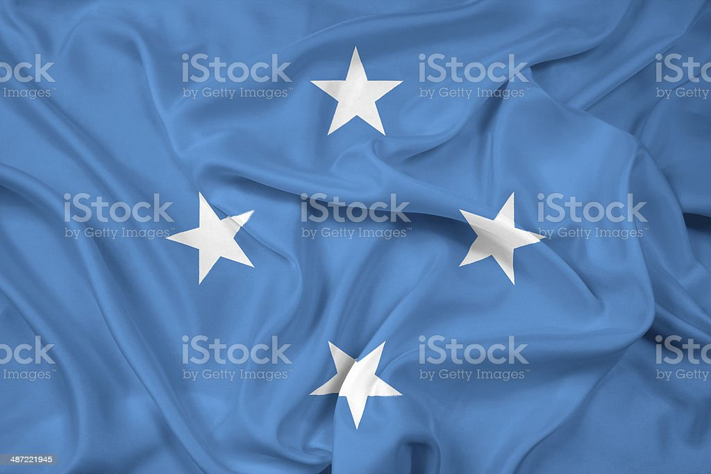 Waving Micronesia Flag stock photo