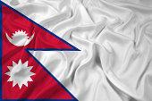 Waving Nepal Flag
