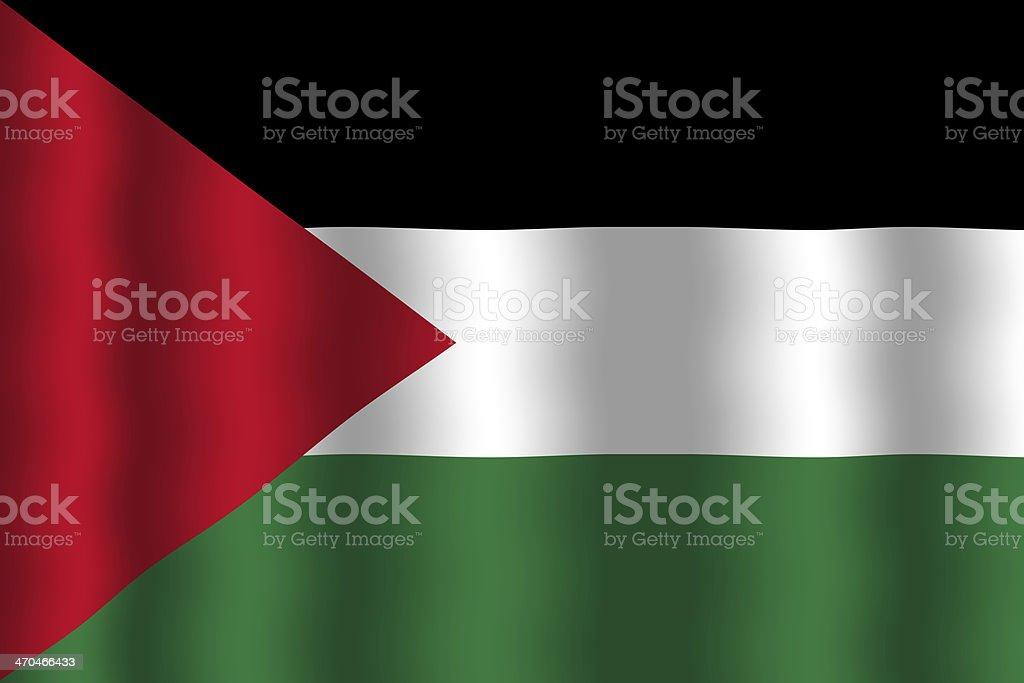 Waving Palestine Flag royalty-free stock photo