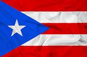 Waving Puerto Rico Flag