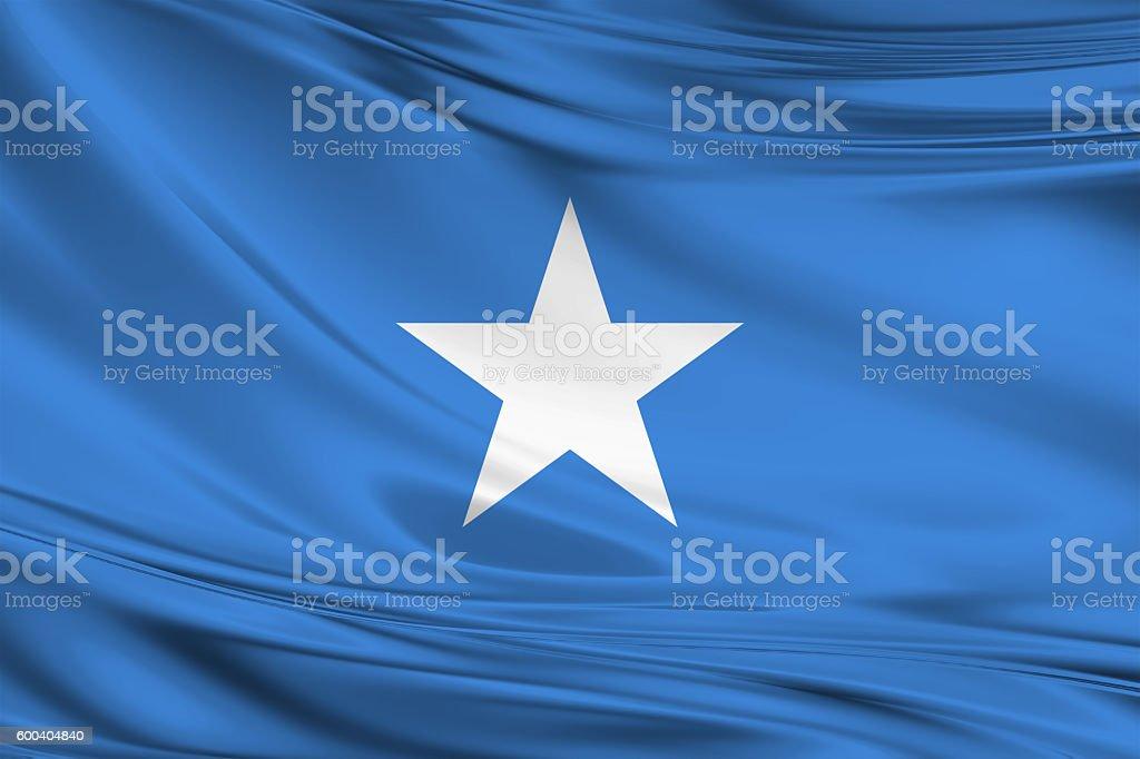 Waving Somalia Flag stock photo