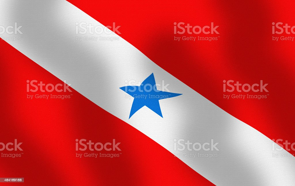 Waving State Flag of Para Brazil Series stock photo
