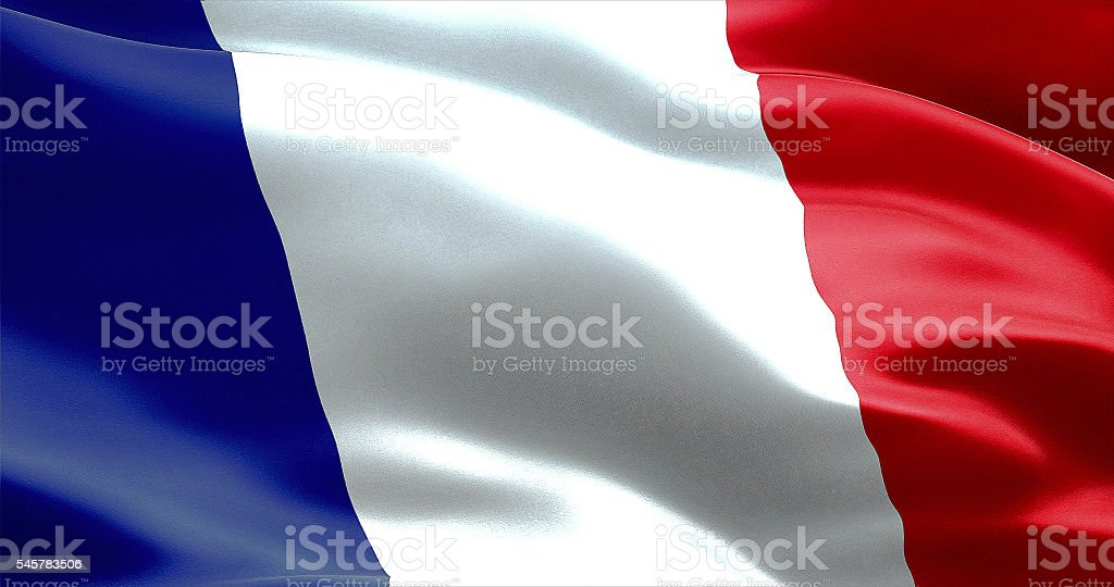 waving texture of the flag of france stock photo