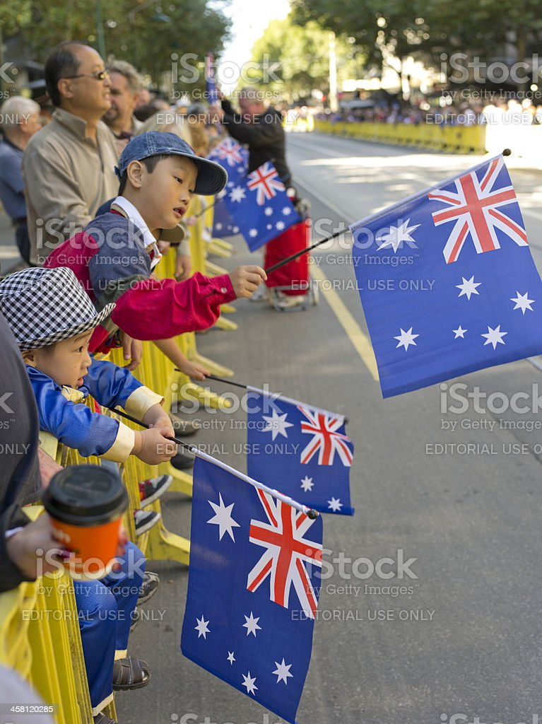 Waving the Flag royalty-free stock photo