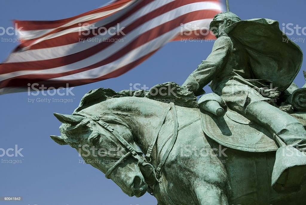 Waving the Flag stock photo