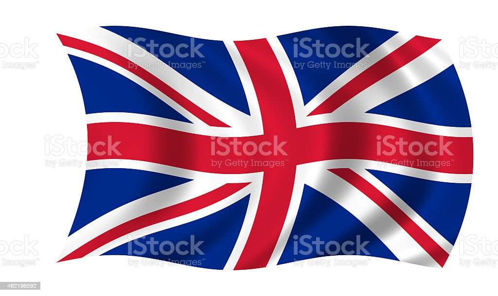 waving uk flag stock photo