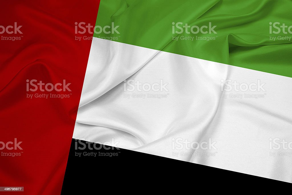 Waving United Arab Emirates Flag stock photo