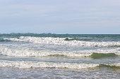 waving water on the beach