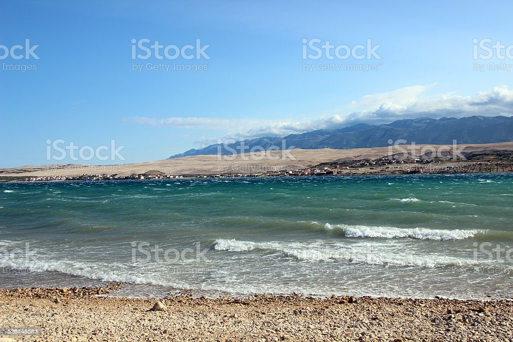 Wavy Adriatic stock photo