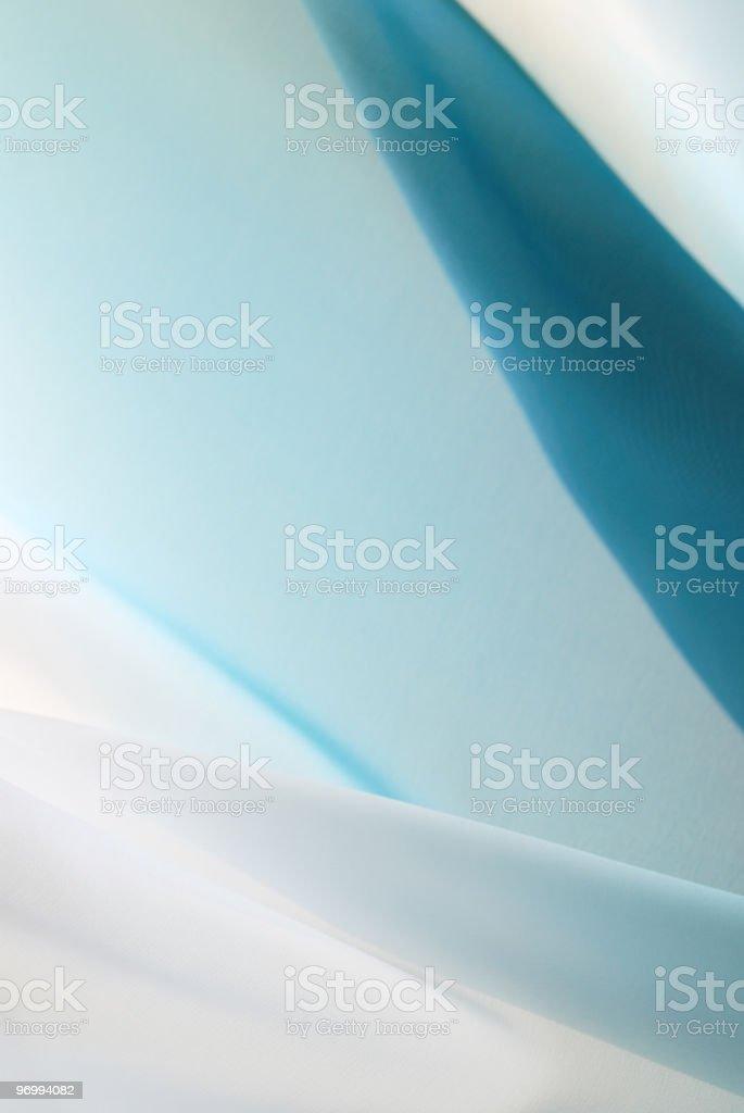 Wavy blue silk royalty-free stock photo