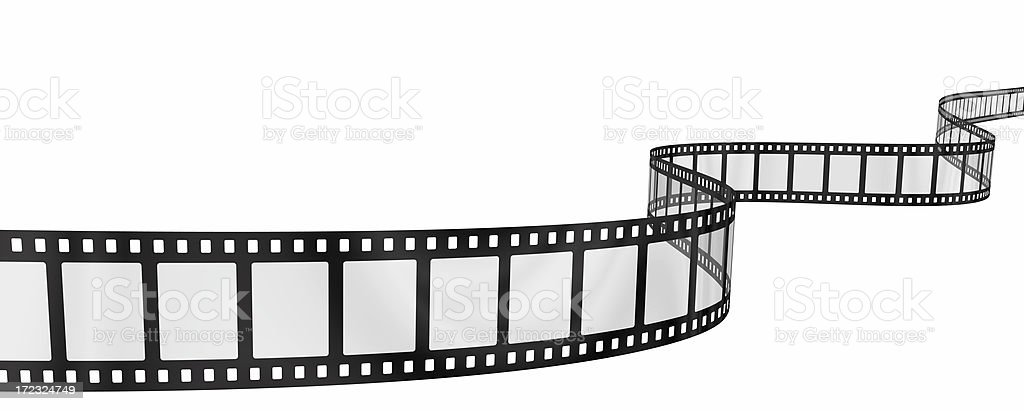 wavy filmstrip royalty-free stock photo