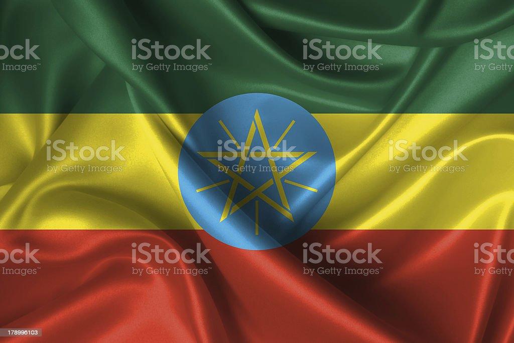 Wavy Flag of Ethiopia royalty-free stock photo