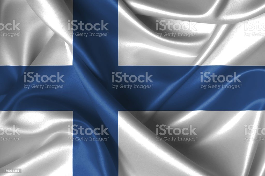 Wavy Flag of Finland royalty-free stock photo