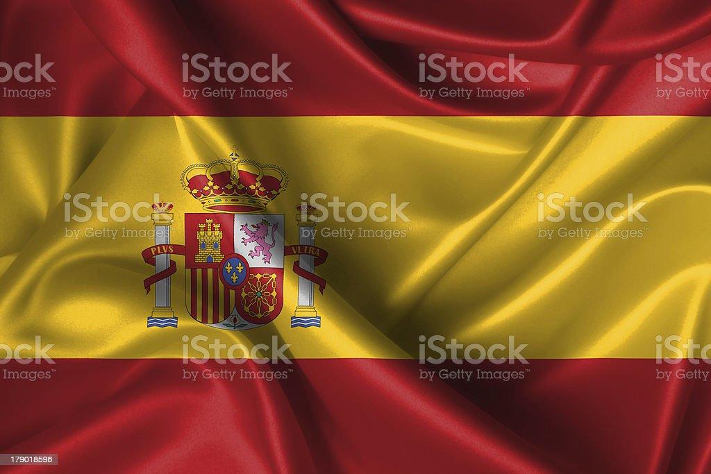 Wavy Flag of Spain royalty-free stock photo