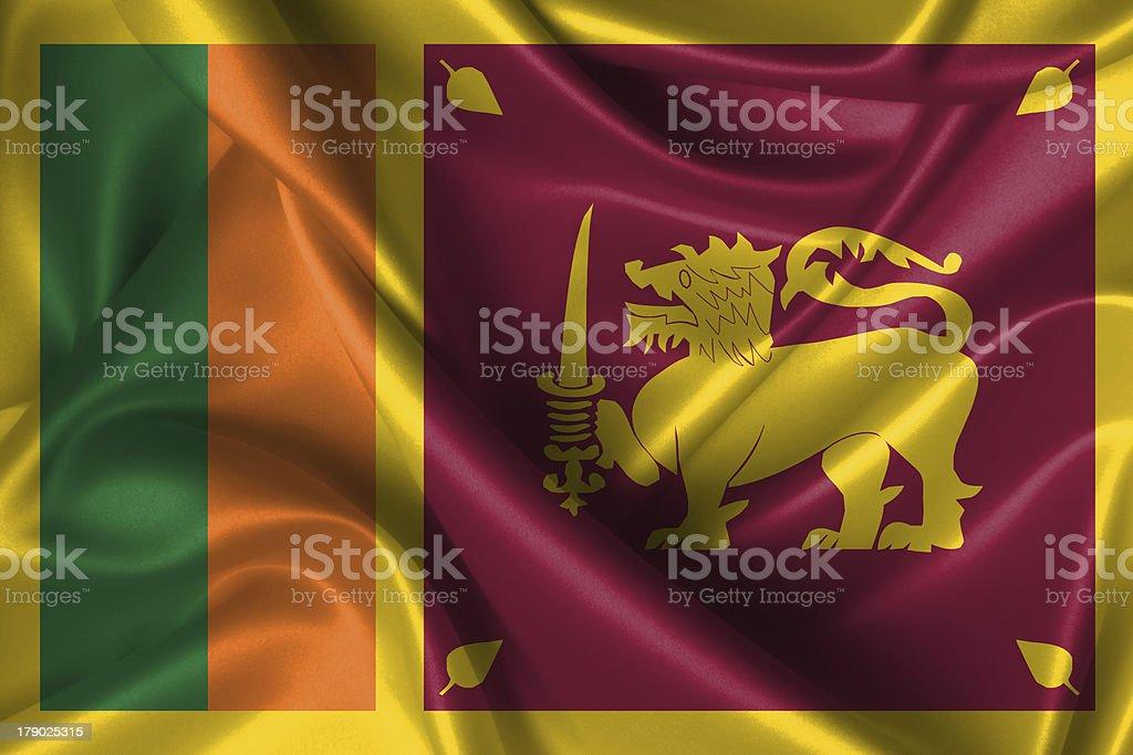 Wavy Flag of Sri Lanka royalty-free stock photo
