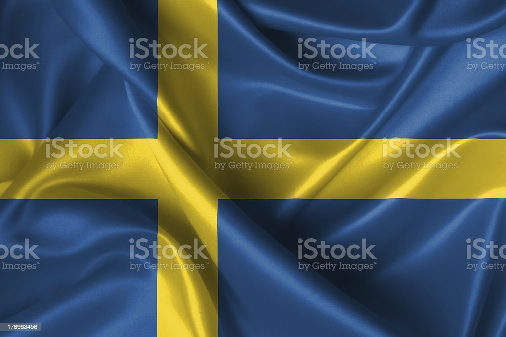 Wavy Flag of Sweden royalty-free stock photo