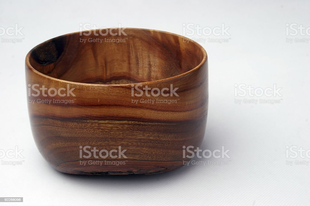 Wavy grain Wooden salad Bowl stock photo