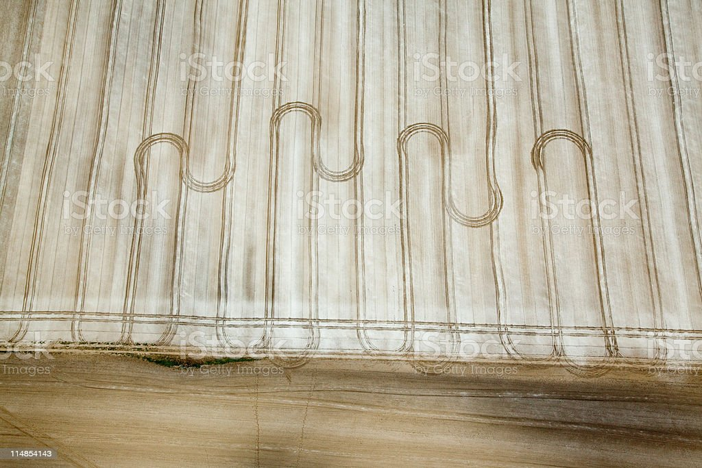 Wavy line patterns in field stock photo