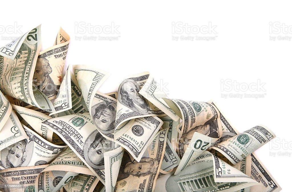 Wavy Money Background royalty-free stock photo