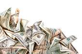 Wavy Money Background