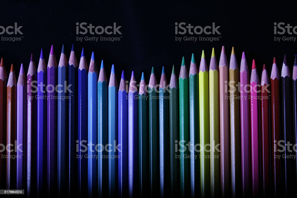 Wavy Pencil stock photo