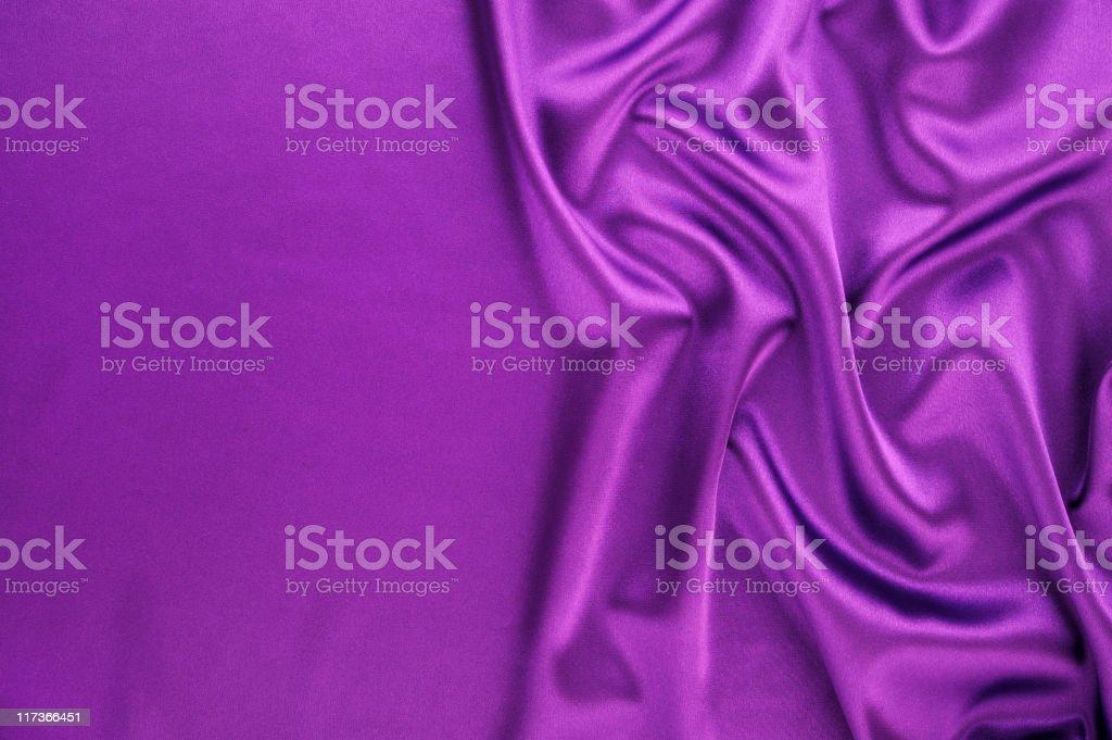 Wavy purple satin royalty-free stock photo