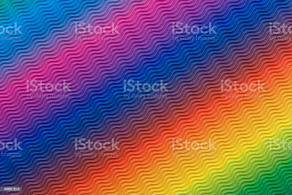 Wavy rainbow pattern (XXL) royalty-free stock photo