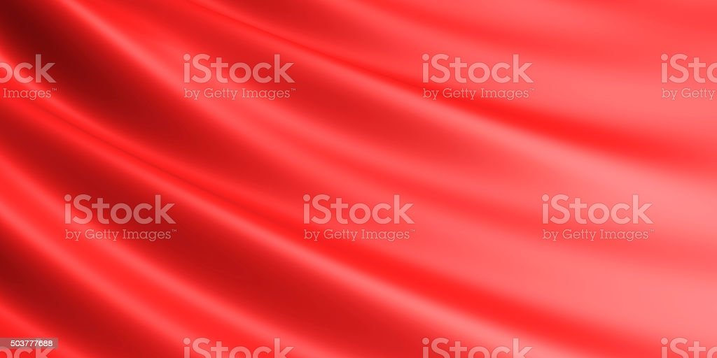 Wavy red fabric background. royalty-free stock vector art