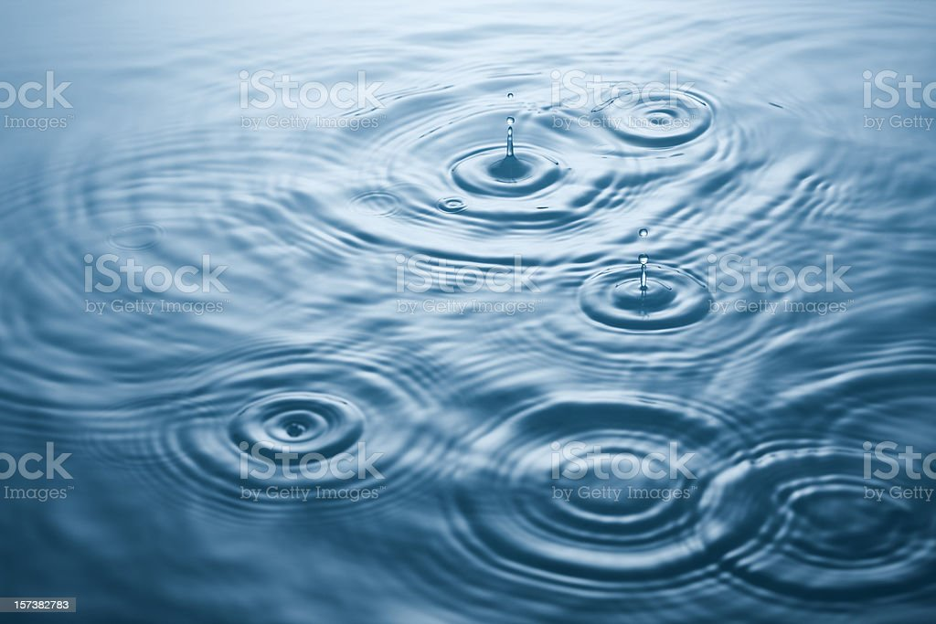 Wavy ripples stock photo
