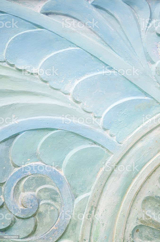 Wavy Stonework Art Deco Pattern Close-Up royalty-free stock photo