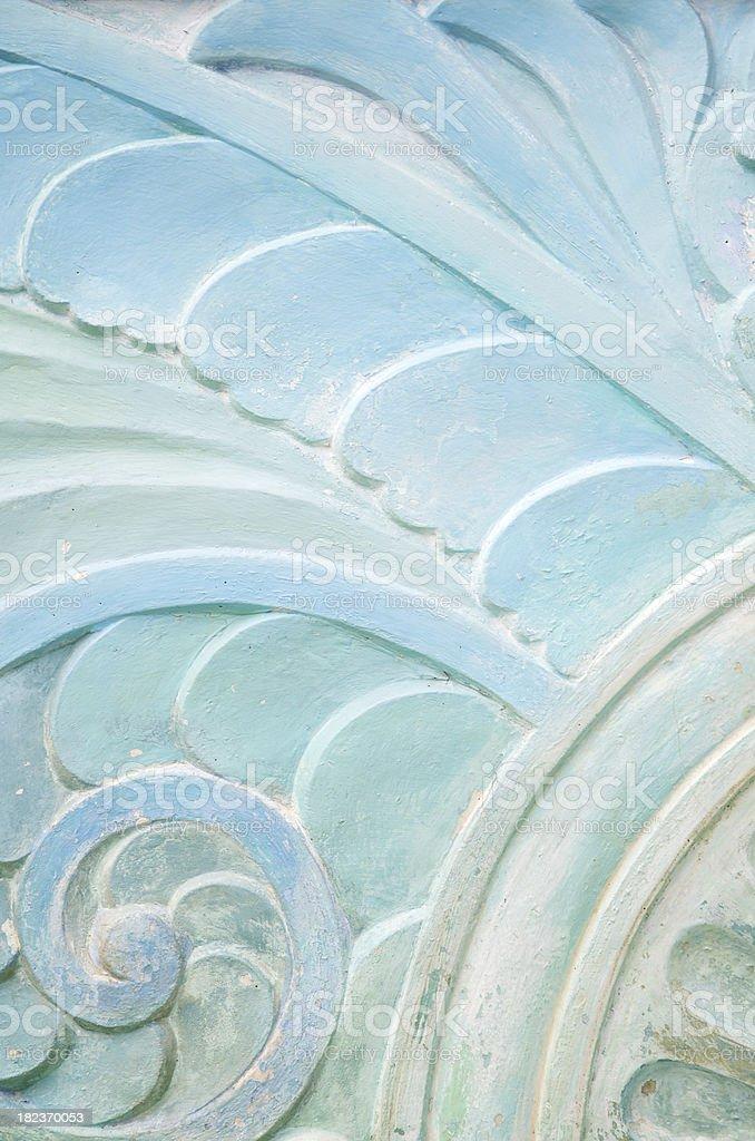 Wavy Stonework Art Deco Pattern Close-Up stock photo