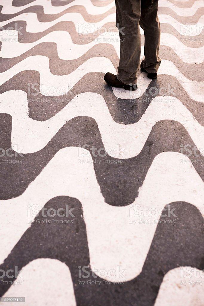 Wavy textured floor. stock photo