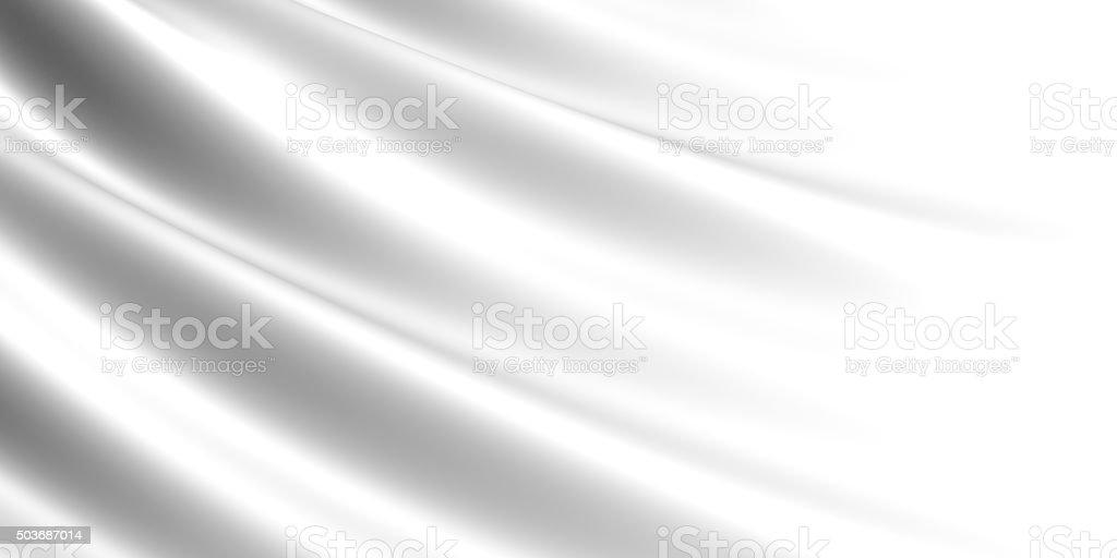 Wavy white fabric background. royalty-free stock photo
