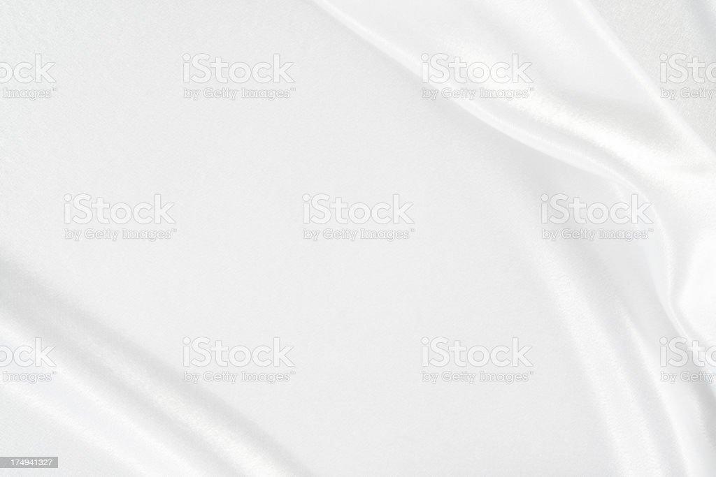 Wavy white satin stock photo