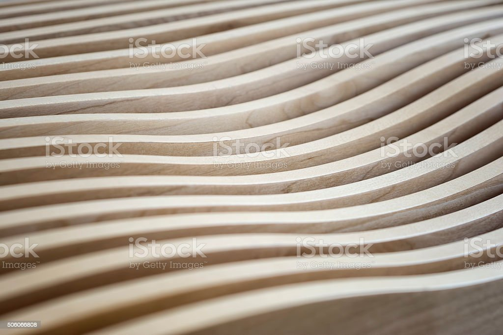 Wavy Wooden Surface stock photo