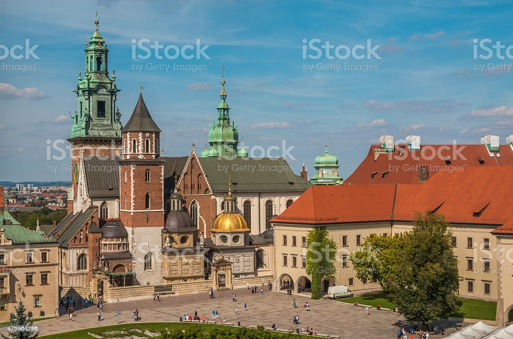 Wawel Castle Cathedral in Krakow Poland stock photo