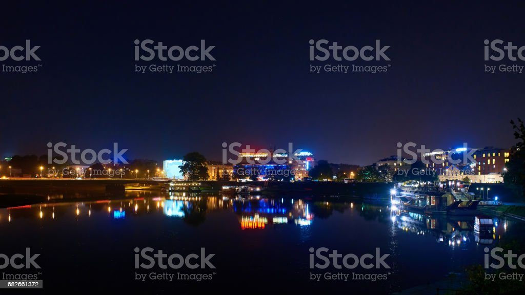 Wawel castle in Krakow, Central Europe stock photo