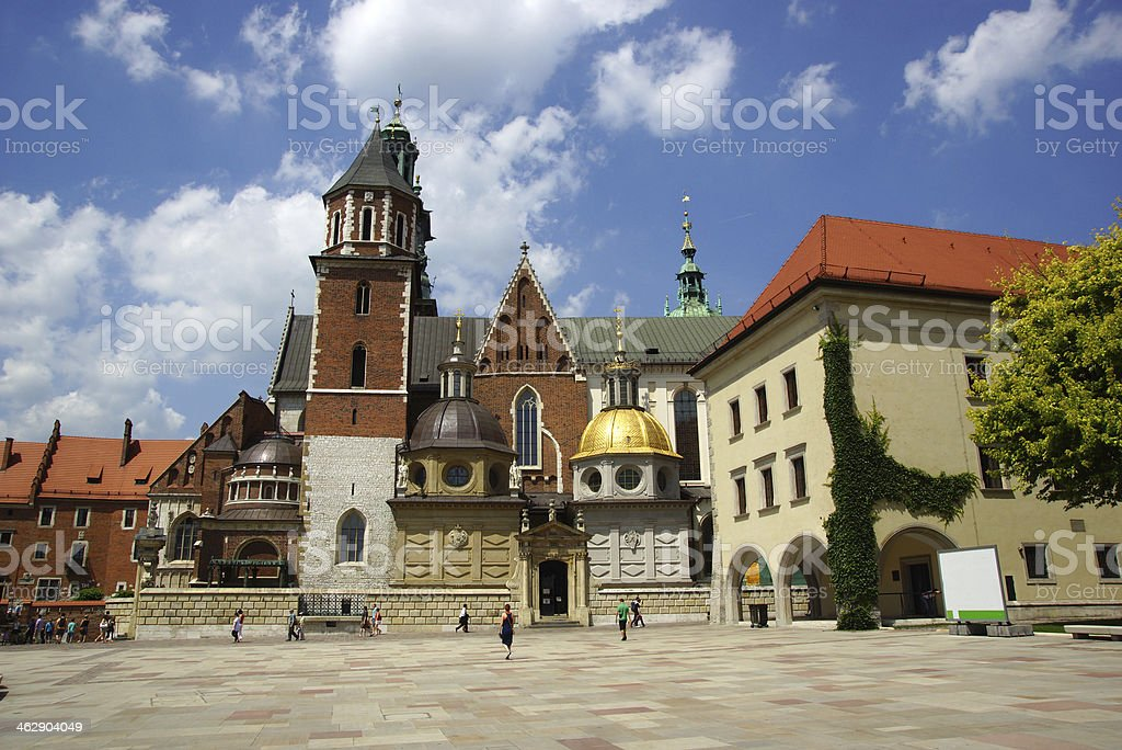 Wawel Cathedral in Krakow (Cracow) royalty-free stock photo