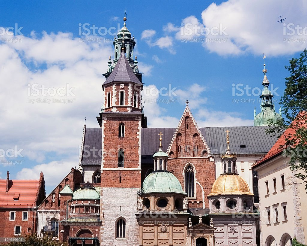 Wawel cathedral stock photo
