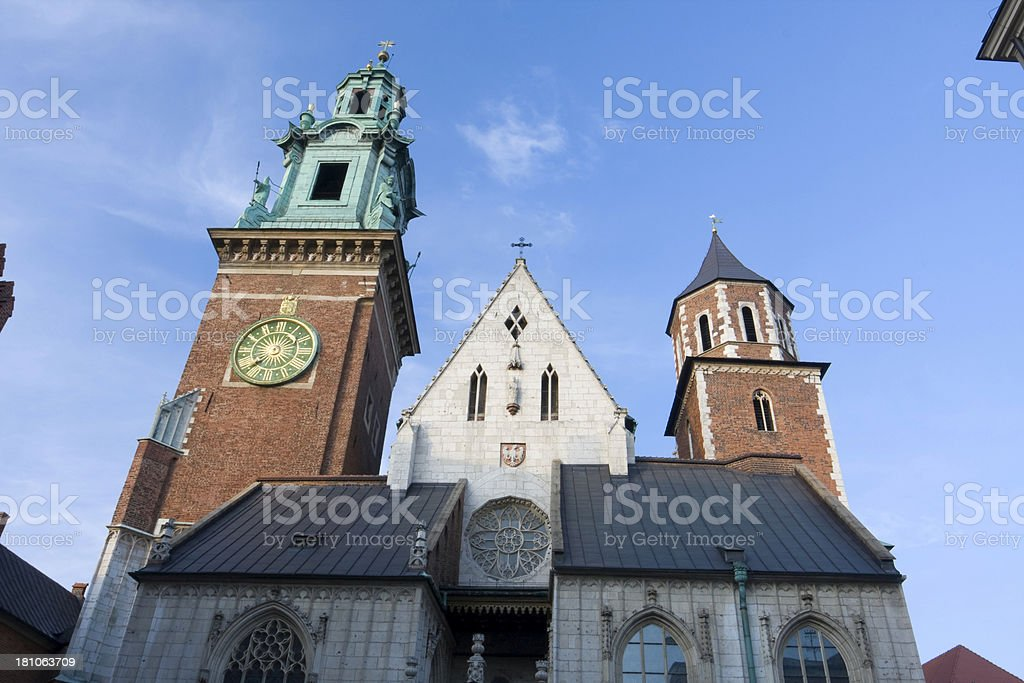 Wawel Cathedral royalty-free stock photo