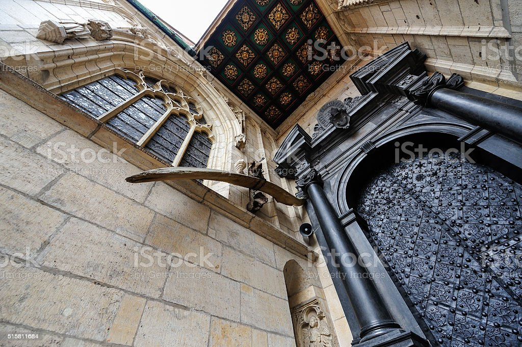Wawel cathedral west entrance stock photo