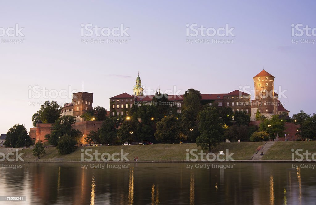 Wawel Hill and cathedral in Krakow, Poland royalty-free stock photo