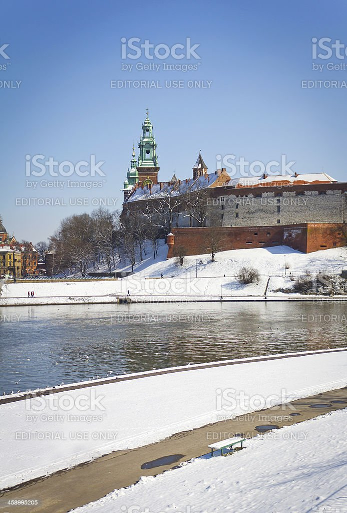 Wawel Royal Castle in Cracow, Poland royalty-free stock photo