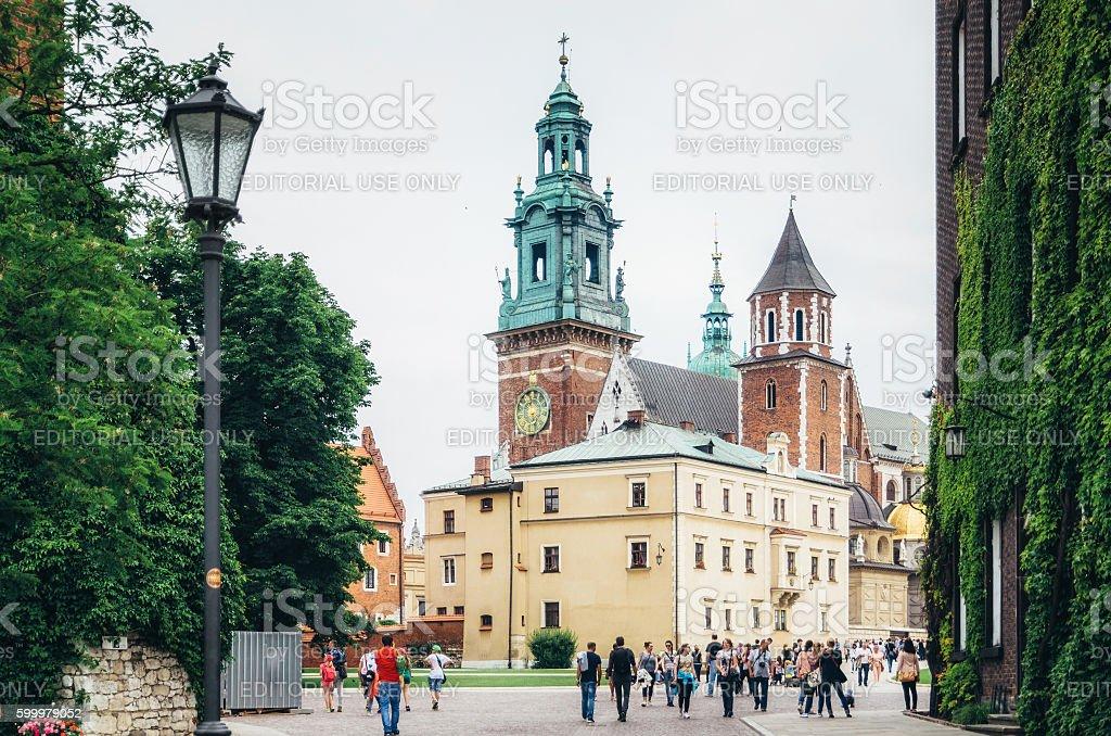 Wawel Royal Castle in Krakow, Poland stock photo