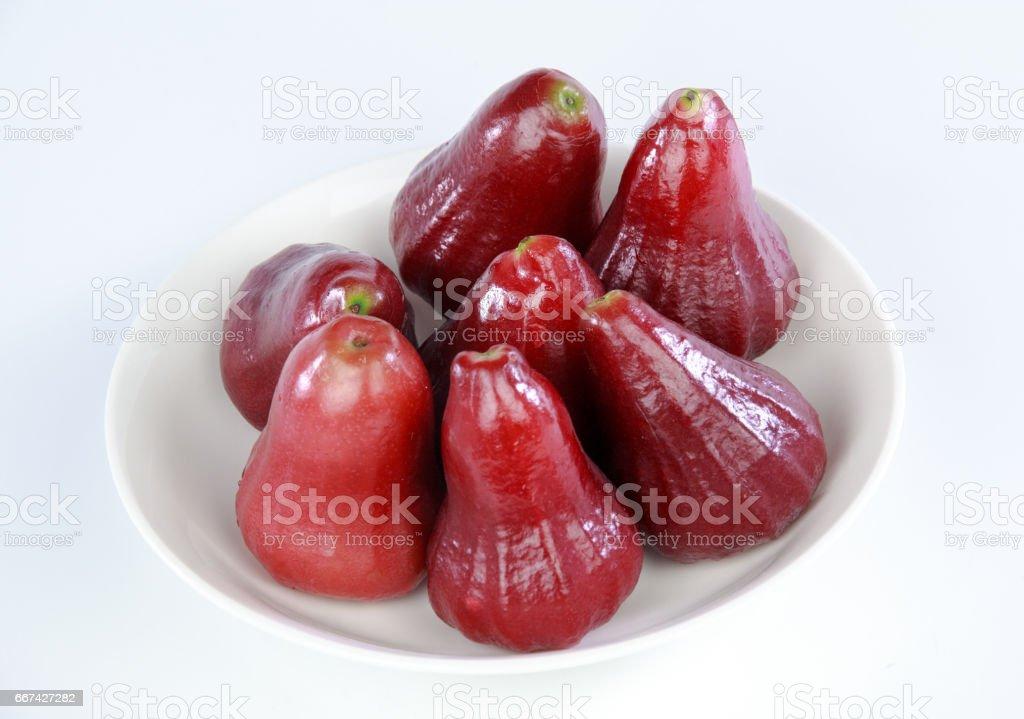 wax apple stock photo