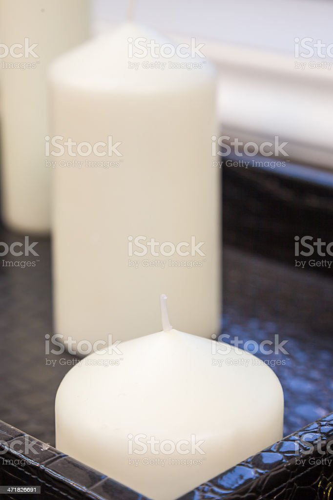 wax candle royalty-free stock photo